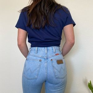Vintage Wrangler Lightwashed High Rise Jeans